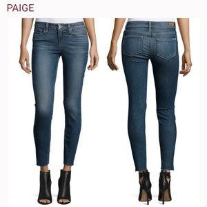 PAIGE Verdugo Ankle Skinny Jean Raw Hem Size 25